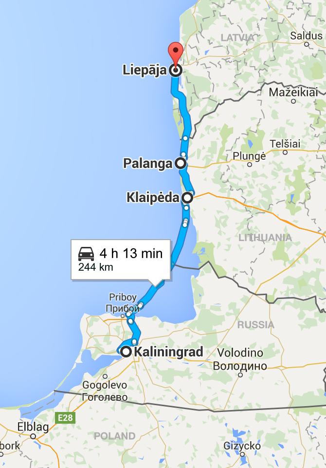 Путешествие по Прибалтике